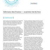 L'Observatoire Erasmus + n°11 : l'alternance dans Erasmus +, un premier état des lieux | Agence ERASMUS+ France / Éducation Formation