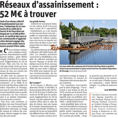 Assainissement à Algrange