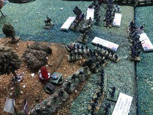 Charge sur le flanc , Archer recule mais ne cède pas. Ce n'est pas encore cette fois ci que les sudistes prendront Mac Pherson Ridge - Echec et victoire majeur pour le nordiste !