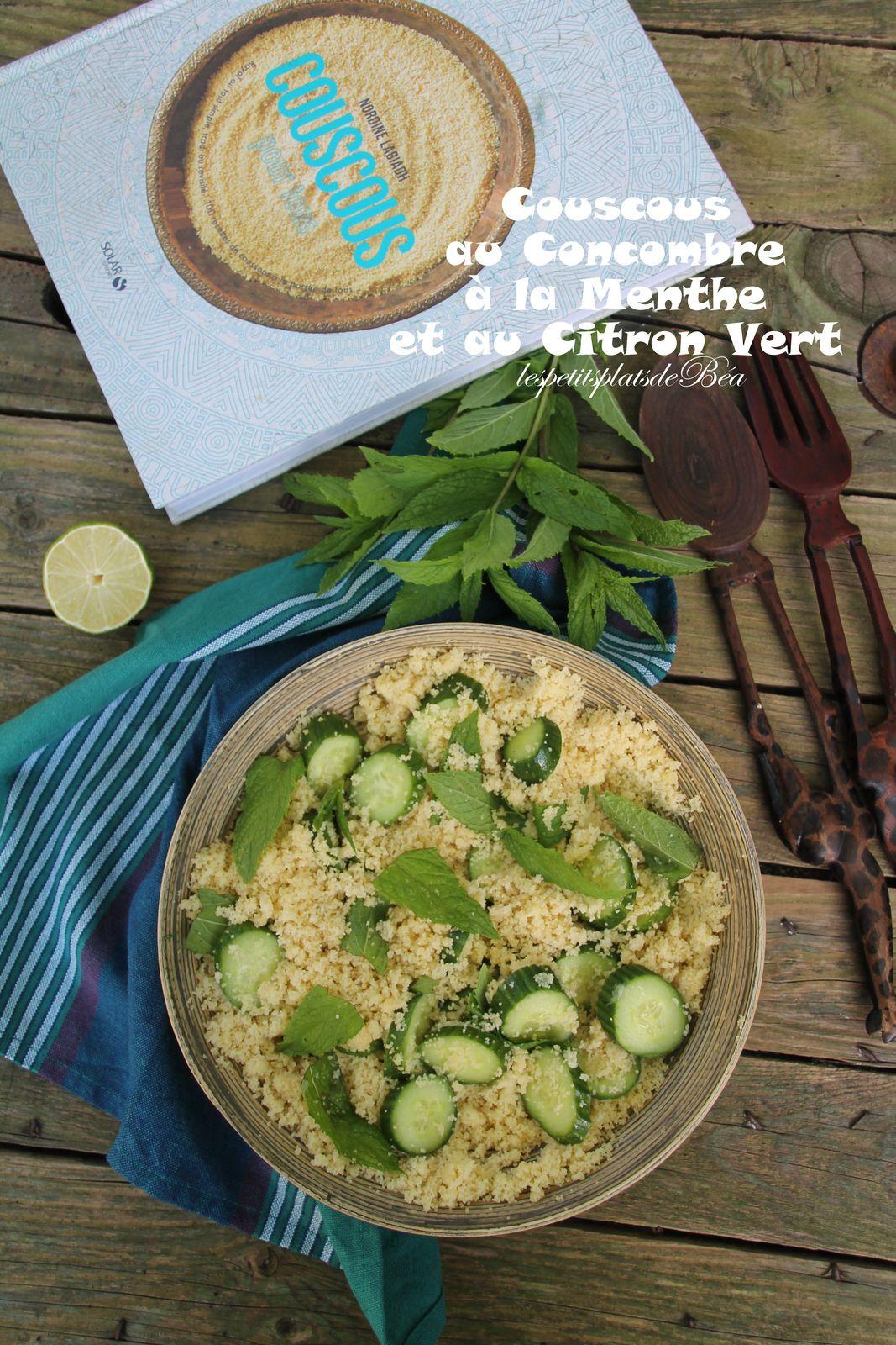 Couscous au concombre, à la menthe fraiche et au au citron vert