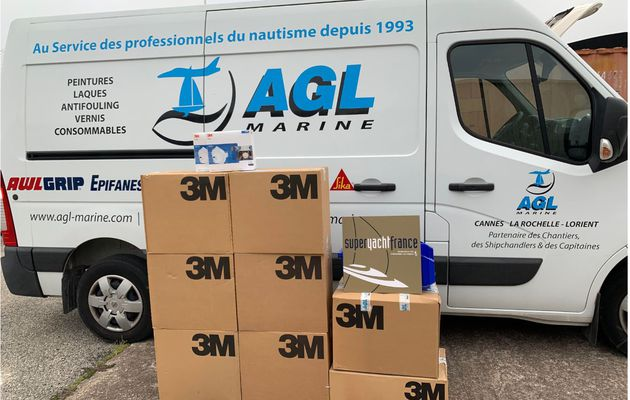 Yachting - AGL Marine (France) donates 1000 FFP2 masks to the City of Cannes