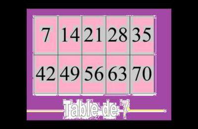 La table de 7