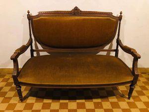 Banquette vintage style Louis XVI