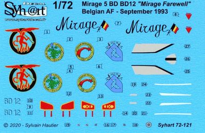 "Dassault Mirage V 5BD (BD12) - 3rd Wing Tactical - 42 squadron ""Mephisto"" - Mirage farewell"