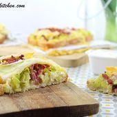 Tartine Poireaux, Bacon & Reblochon {Sauce Moutarde} - Brian Iz In The Kitchen
