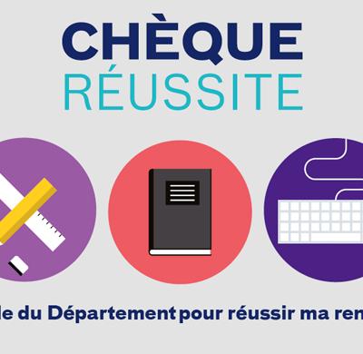 CHEQUE REUSSITE POUR LES ELEVES DE 6EME RECONDUIT CETTE ANNEE PAR LE CONSEIL DEPARTEMENTAL