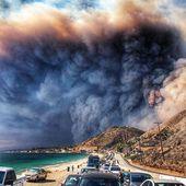 MAJ IMPORTANTE Les photos apocalyptiques des feux en Californie (25 morts - provisoire) + Qu'est ce qui a provoqué ces incroyables explosions de feu = Un Feu Électromagnétique ??? - MOINS de BIENS PLUS de LIENS