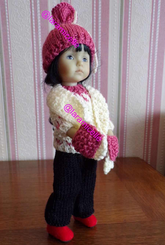 tuto gratuit poupée  : longue écharpe avec poches pour tricoteuses débutantes