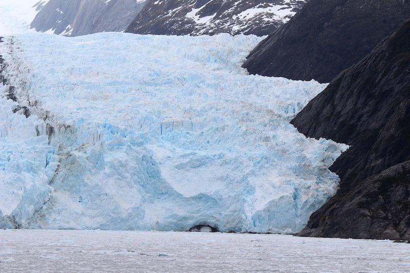 Le glacier Garibaldi et coucher de soleil