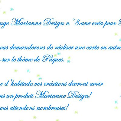 Challenge chez Marianne Design