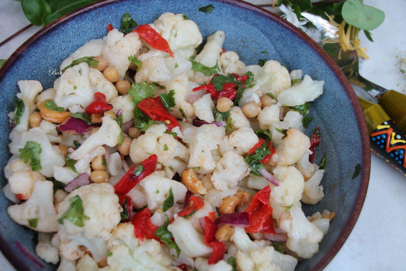Salade de chou fleur et pois chiches