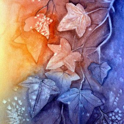 feuilles de vignes.