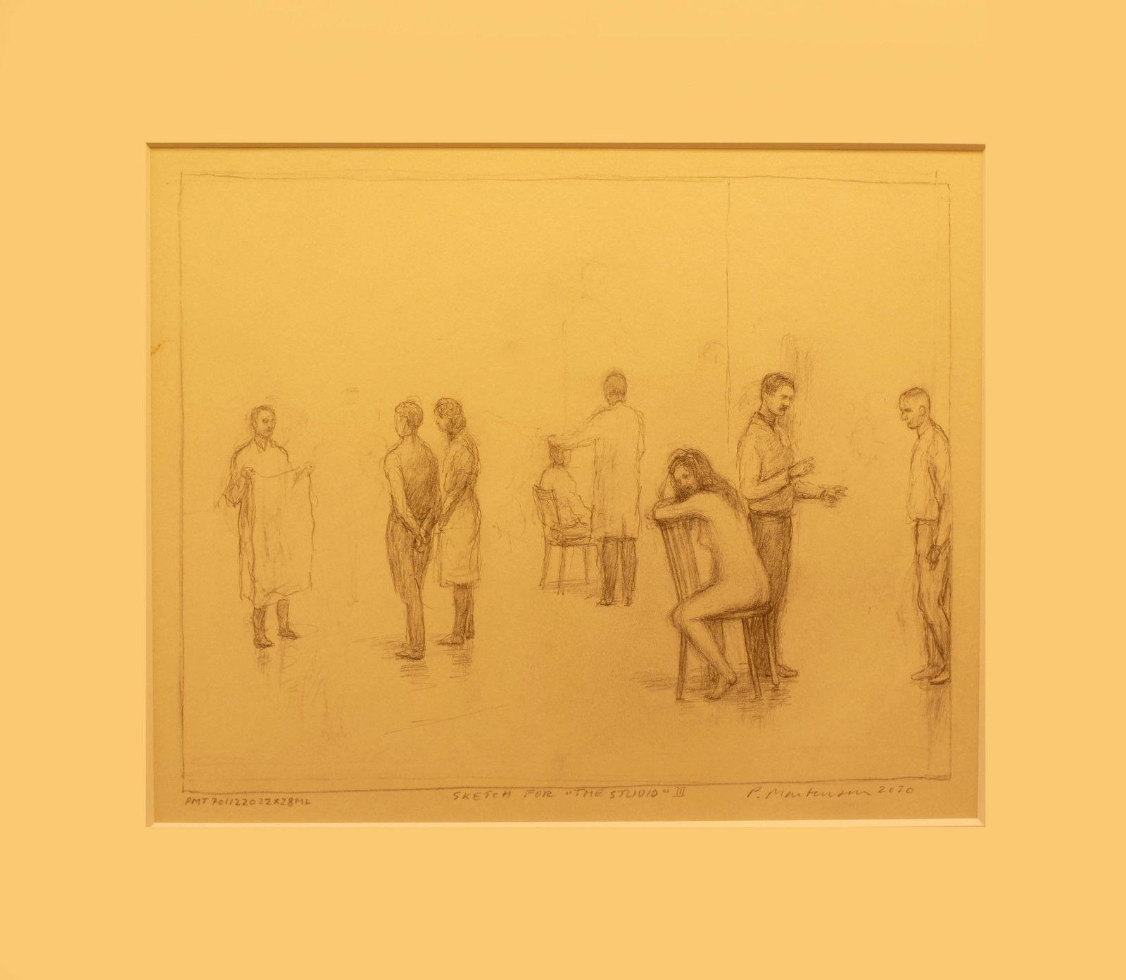 """Sketch for ""The Studio"" 2"", 2020 de Peter MARTENSEN - Courtesy de la Galerie Maria Lund © Photo Éric Simon"