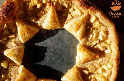"""Galette des rois """"étoile"""" à la noisette et à la pomme"""