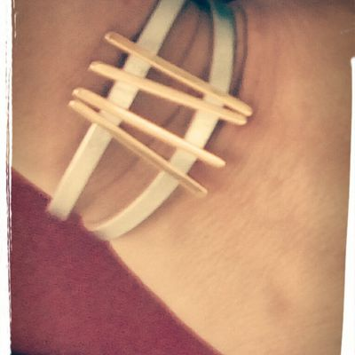 Bracelets de cuir - Lignes graphiques
