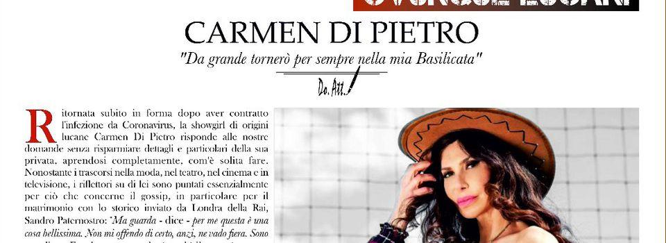 "Carmen Di Pietro : ""Da grande tornerò per sempre nella mia Basilicata"""
