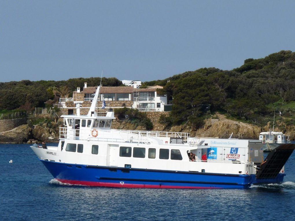 ARCHIPEL III , Transport de fret entre le continent et les iles d'Hyères