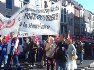 Grève massive dans la Fonction Publique : 1 500 manifestants au Puy.