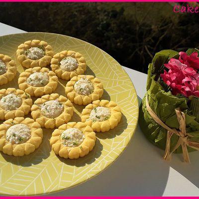 Tartelettes au chocolat blanc noix de coco citron vert