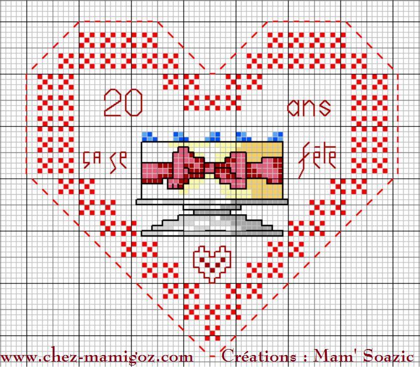 Cœur Valentin Anniversaire 20 ans: face A