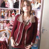 une veste bicolore au crochet - crea.vlgomez.photographe et bricoleuse touche à tout.over-blog.com