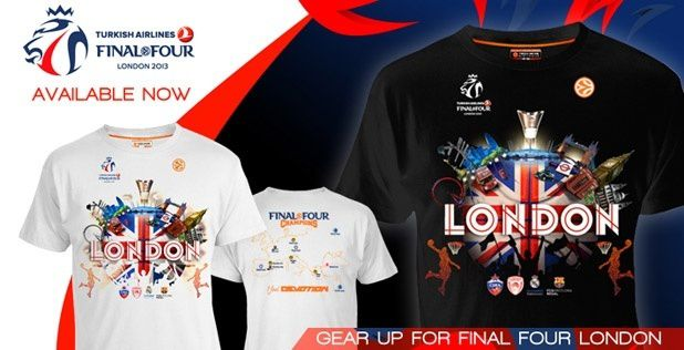 Official merchandising for London 2013 Final Four available now!