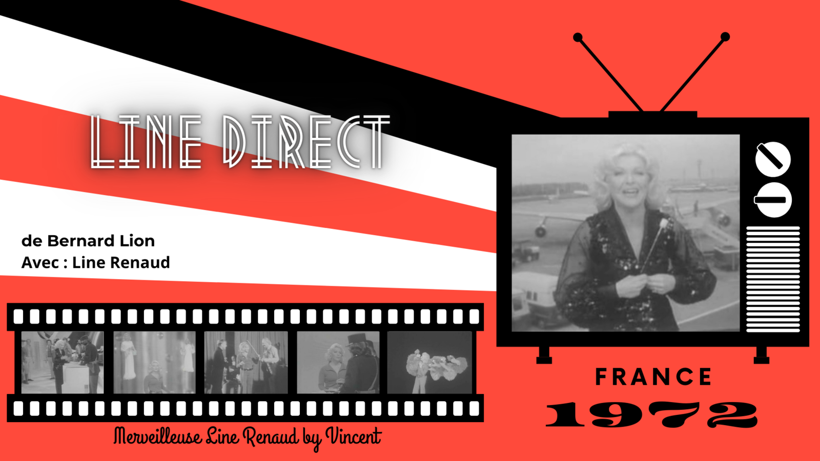 EMISSIONS TV: 1972 « Line Direct » de Bernard Lion (France)