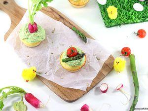 Cupcakes Salés Saumon et Mousse d'Asperges Express