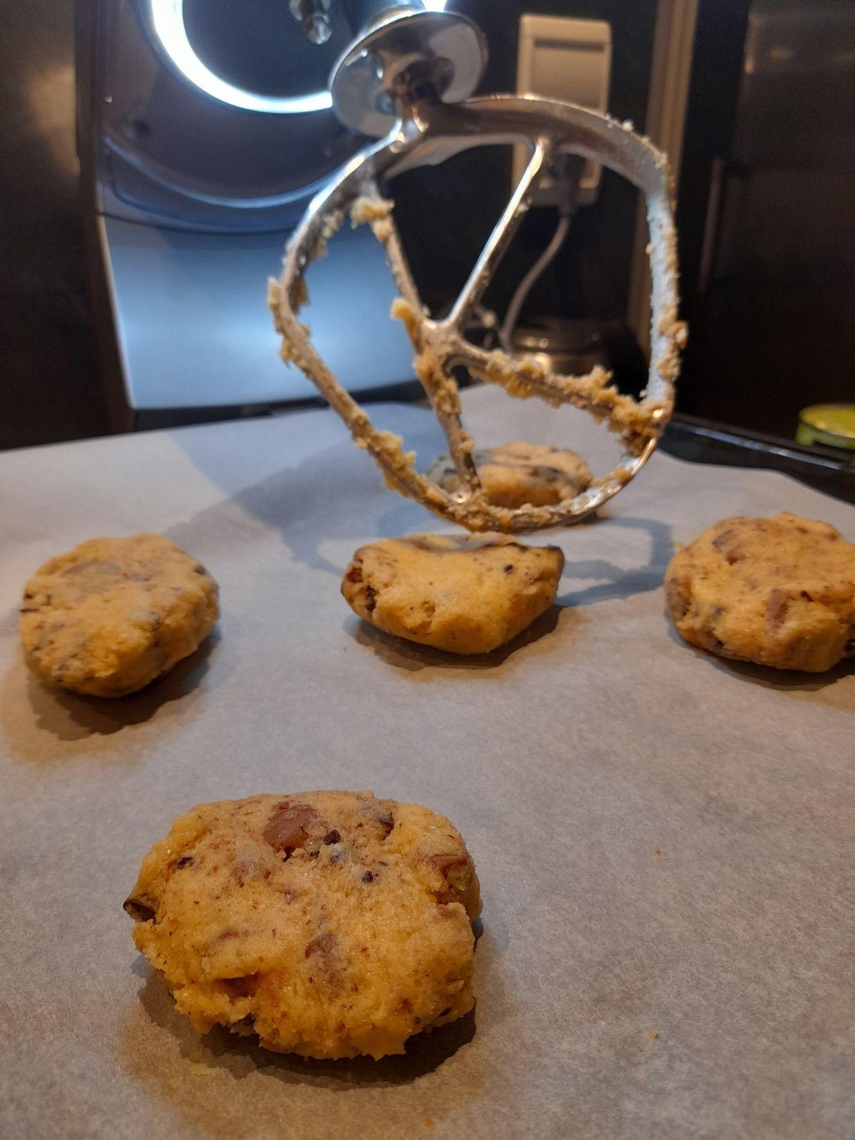 😋 un petit défi de ma fille 🥰 elle me demandait de lui refaire des cookies qu'elle adore  s'acheter en ville,  dans les boutiques de la #miecâline 💪 mission relevée 😆e
