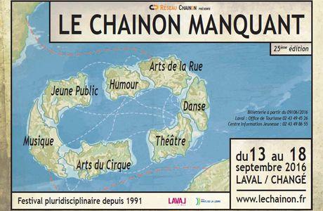 « Le Chaînon manquant », à Laval et Changé, du 13 au18septembre2016