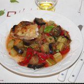 Ratatouille maison et poulet doré - Chez Vanda