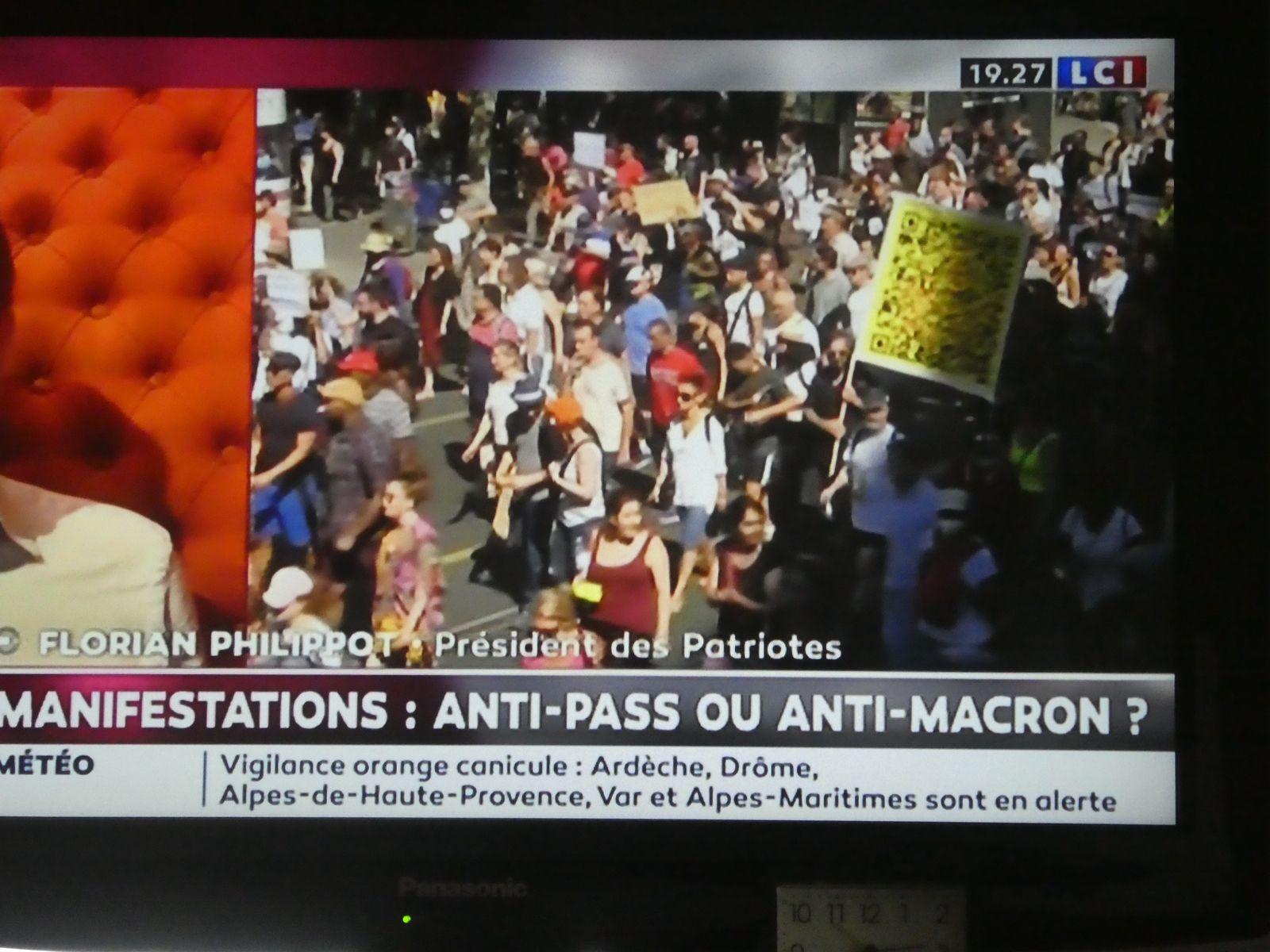 14 AOÛT 2021 - 5e SEMAINE DE MANIFESTATIONS EN FRANCE