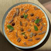 Risotto à la tomate, thon et olives de Cyril Lignac