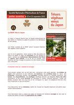 Journées Portes ouvertes SNHF - 22-23 septembre 2012