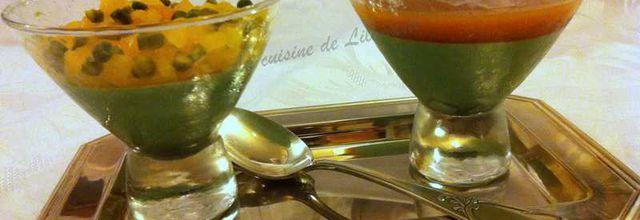 Panna Cotta au parfum de pistache et aux abricots