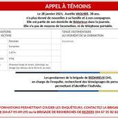 Hérault : appel à témoins après la disparition d'une jeune femme à Bédarieux