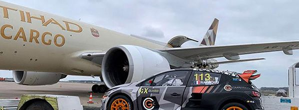 Watch: track to track Etihad cargo flies 17 of the world's top rallycross cars from Europe to Abu Dhabi