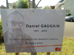 Hommage à Daniel GAUGAIN à la Cité des Pins avec le Conseil des quartiers Sud-Est