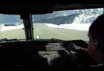 Tyrolean Dash 7 landing at Courchevel