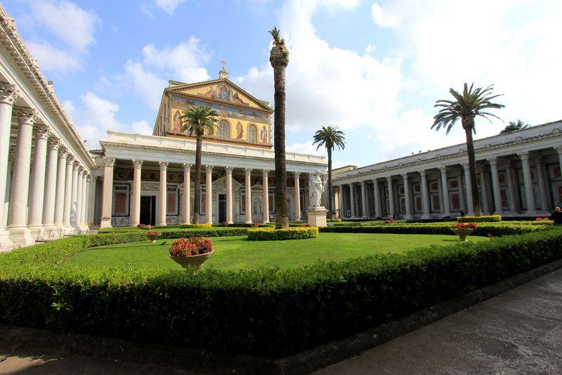 Basilique Saint-Paul-hors-les-murs - Rome - Mars 2014.