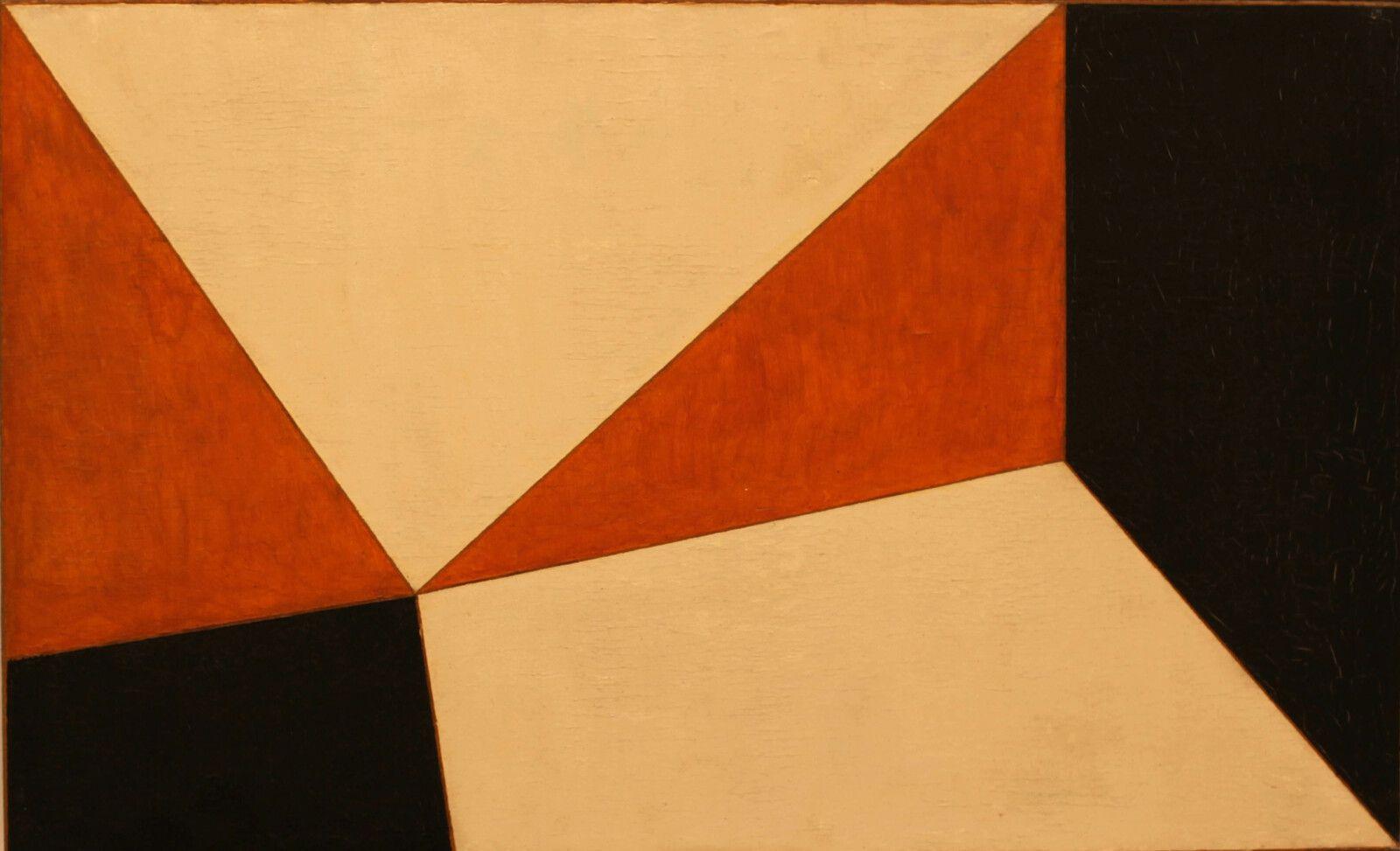 """""""Orange, Indigo, Blanc"""", 1950 de Emanuel PROWELLER - Courtesy de la Galerie G-P & N Vallois © Photo Éric Simon"""