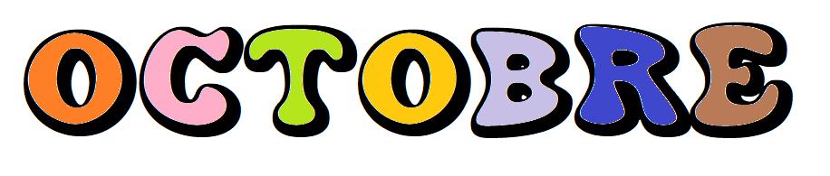 Les Mois de l'Année 2 : Octobre [Affichage][Coloriage][Maternelle][CP]
