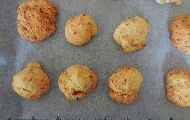 COOKIES SALES AU CHORIZO, FROMAGE ET SESAME THERMOMIX