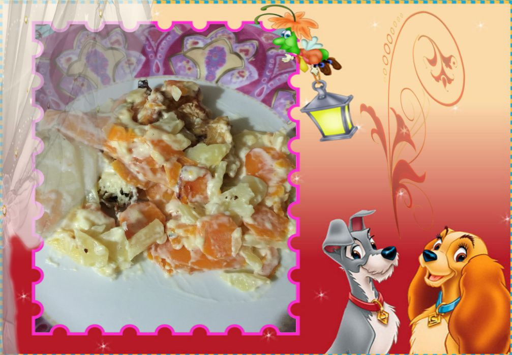 Gratin pommes de terre carottes
