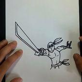 Como dibujar un ninja paso a paso | How to draw a ninja