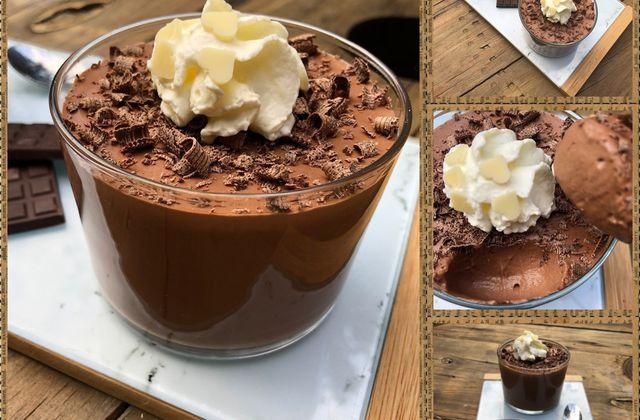 Mousse au chocolat noir sans œufs 🍫