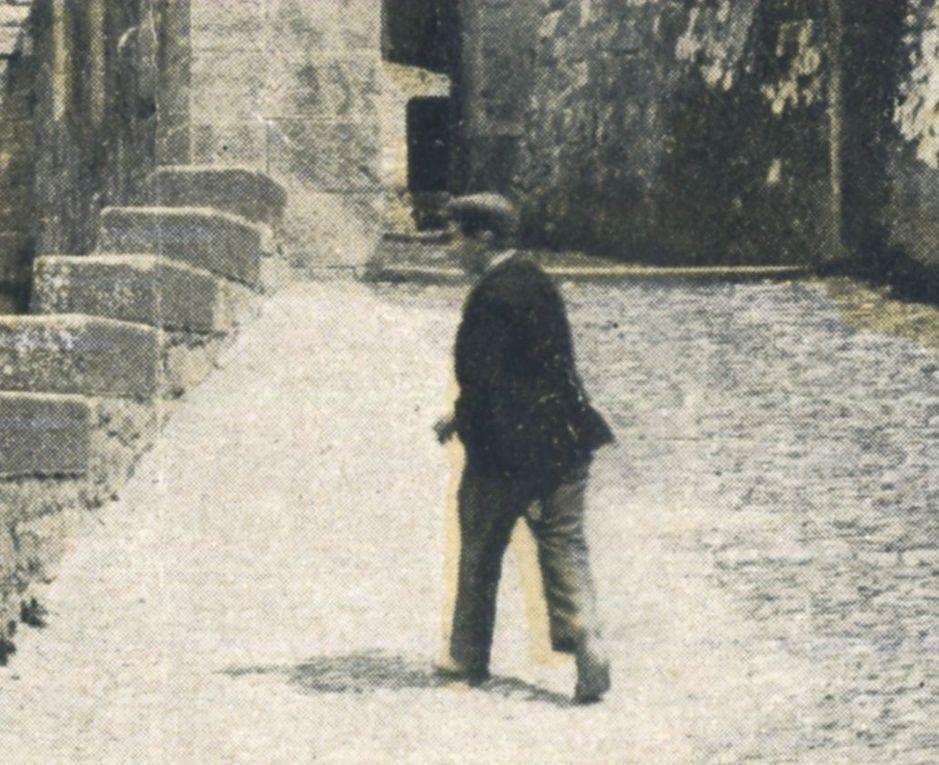 Carcassonne et un seul visiteur par beau temps....