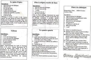 Recette de la Clède : Farine de Chataignes