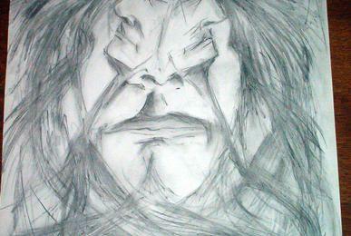 Barbare, Fusain sur papier, 50 x 65 cm
