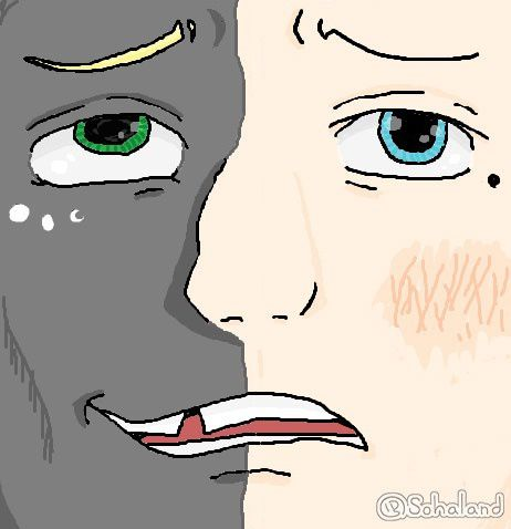 Dessin made in paint 🎨 Deux Faces 🌓